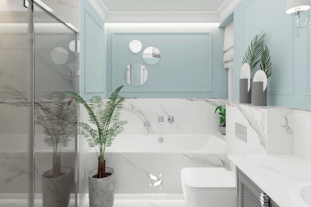 styl modern classic w łazience