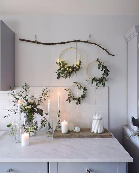 świąteczne dekoracje styl minimalistyczny boże narodzenie 2019