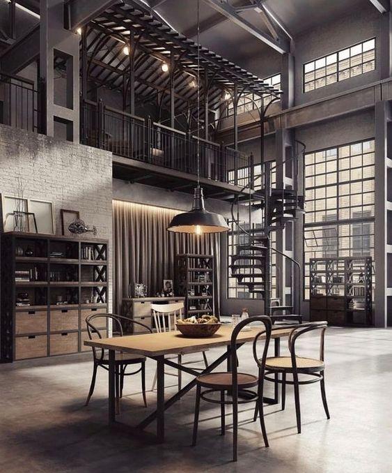 styl industrialny we wnętrzu