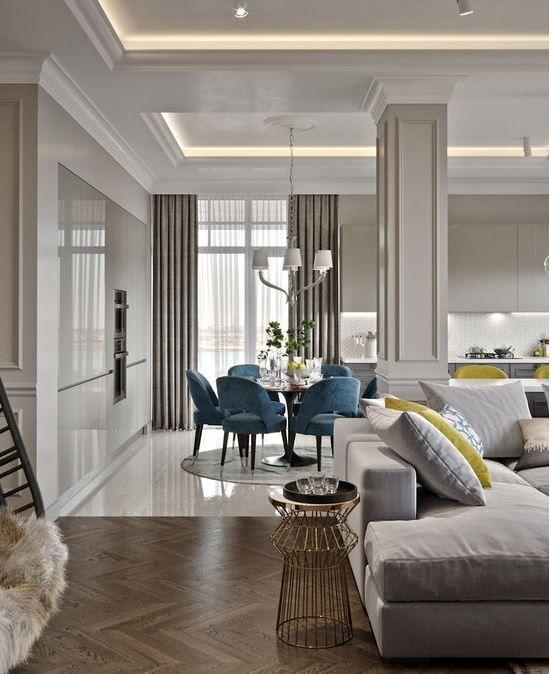wnętrza w stylu modern classic