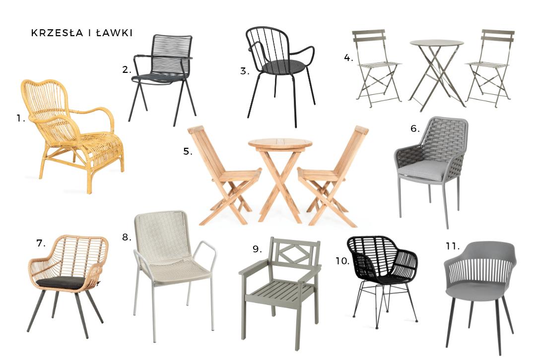 Ja urządzić balkon lub taras? Krzesła i ławki