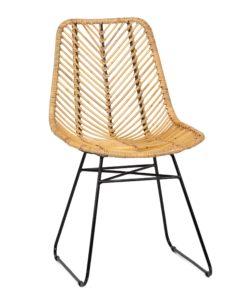 Krzesło rattanowe Pesaban - lectus24.pl