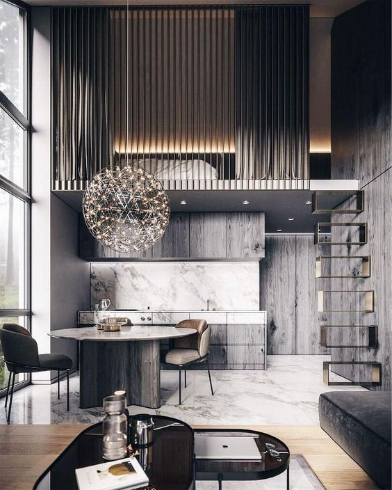antresola w mieszkaniu inspiracje salon